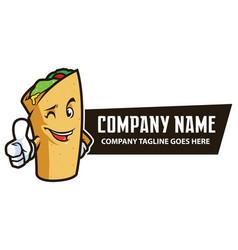 Food wrap mascot vector