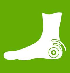 foot heel icon green vector image