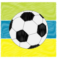 Football soccer ball strips Scribble effect Flat vector