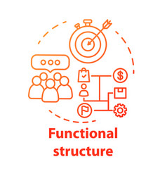 Functional corporate structure concept icon vector