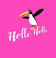 funny greeting card with a bird vector image