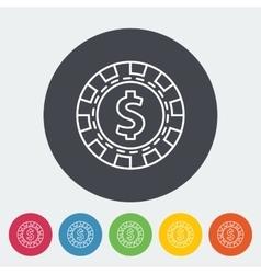 Gambling chips icon vector image