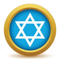 Gold Judaism icon vector image