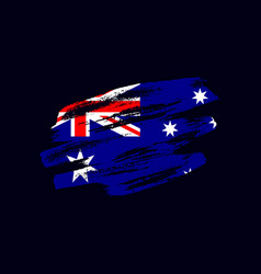 Grunge textured australian flag vector