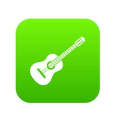 guitar icon digital green vector image