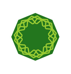 Halal template for islamic pattern logo for vector