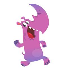 happy cartoon rhino character vector image