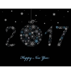 Happy New Year Greeting card 2017 vector image