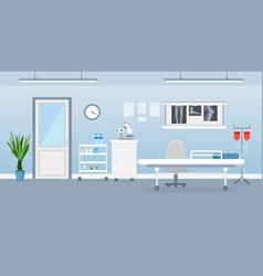 Hospital room interior vector