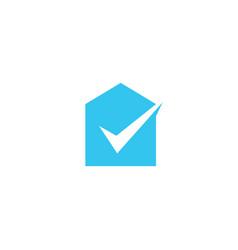 House check logo icon vector