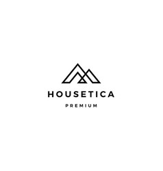 house home mortgage roof architect logo icon vector image