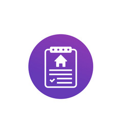 house insurance contract icon vector image
