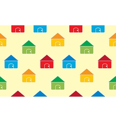Houses seamless pattern background vector image
