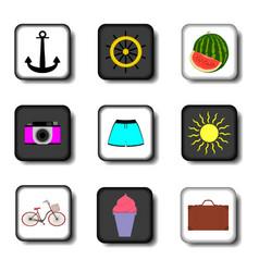 Icon logo for set symbols on flat vector