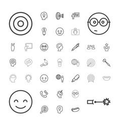 Idea icons vector