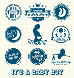 its a baboy retro labels collection vector image