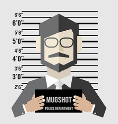 Mugshot Of Businessman vector image