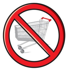No shopping vector