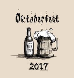 Oktoberfest beer festival holiday decoration vector
