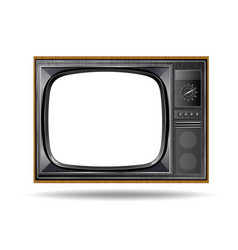 old vintage tv isolated on white background vector image