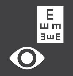 Optometry glyph icon medicine and healthcare vector
