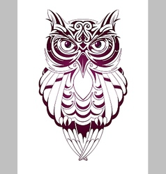 Owl tattoo vector
