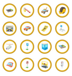 parking icon circle vector image