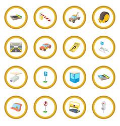 parking icon circle vector image