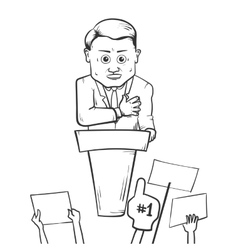 Politician making speach vector