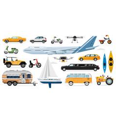 public transportation set vector image