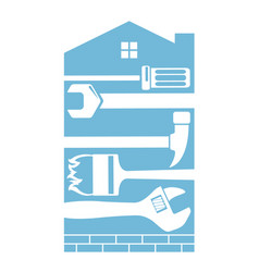 repair and construction a house vector image