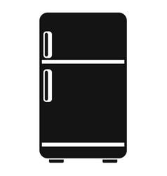 retro fridge icon simple style vector image