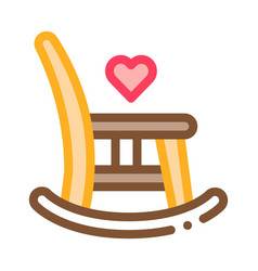 rocking chair icon outline vector image