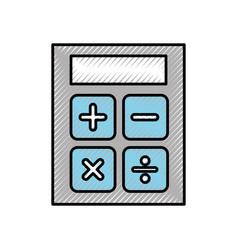Scribble calculator cartoon vector
