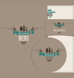 Set of design elements for a cafe or restaurant vector