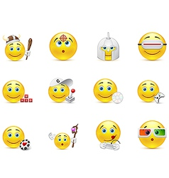 Set smiles in games category vector