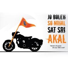 Sikh on Bullet vector