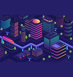 smart city in a futuristic style a city the vector image