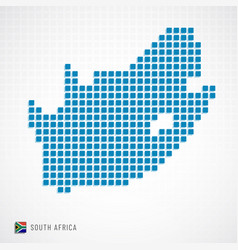 South africa map and flag icon vector