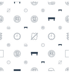 stop icons pattern seamless white background vector image
