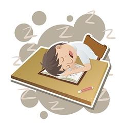 Student sleeping vector