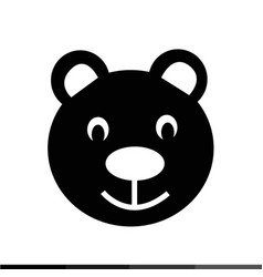 teddy bear icon design vector image