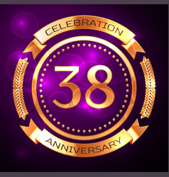 Thirty eight years anniversary celebration with vector