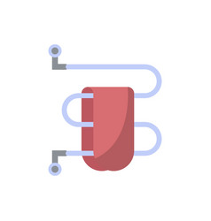 towel dryer isolated icon in flat style vector image