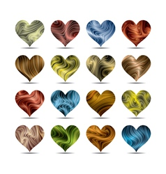 valentines day heart symbol set vector image