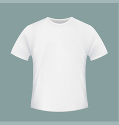 White blank t-shirt realistic isolated image vector