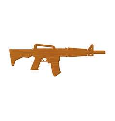 wooden gun kids board weapons childrens military vector image