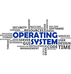 Word cloud - operating system vector