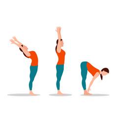 Yoga collection woman set vector