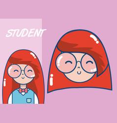young school student cartoon vector image